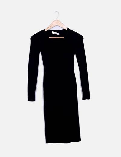 Vestido tricot negro Bubble