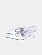 Zueco blanco con punta Roberto Botella