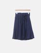 Falda midi azul paperbag Massimo Dutti