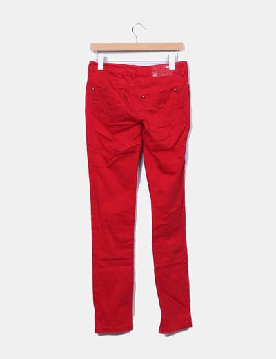 Pantalon denim rojo slim fit