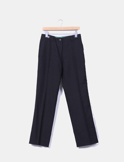 Pantalón negro de pinzas Carolina Herrera
