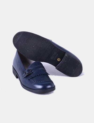 Zapato polipiel azul