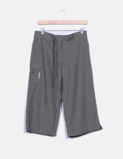 Pantalón culotte deportivo taupé Tribord