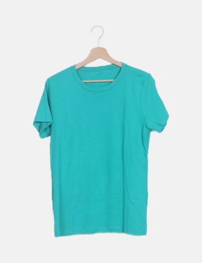 Camiseta verde manga corta basic