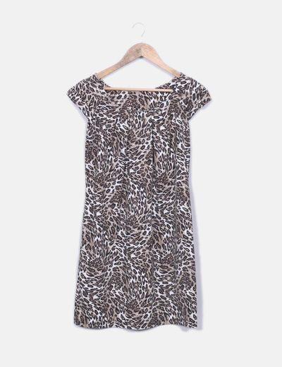 6845fc912a NoName Vestido estampado animal print (descuento 91%) - Micolet