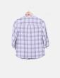 Blusa de cuadros con bordados Massimo Dutti