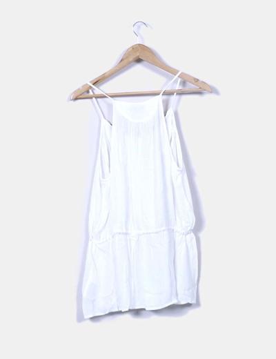 Blusa blanca peplum etnica