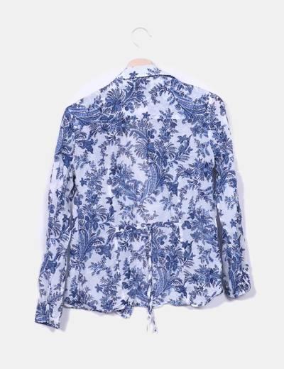 Camisa estampado floral azul