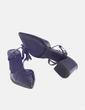 Sandalia negra destalonada con tacón Zara