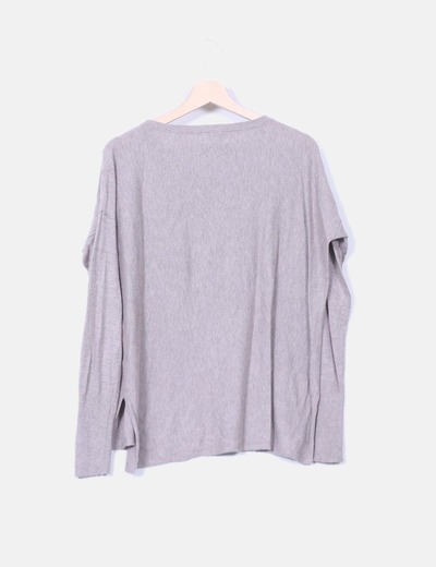 Sueter tricot taupe