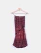 Vestido bicolor estampado palabra de honor Bershka