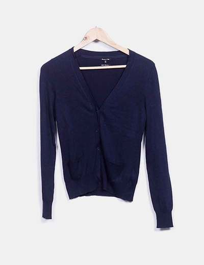 Chaqueta tricot azul marina