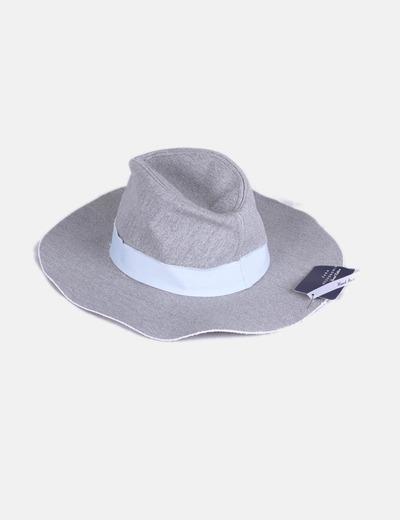 Borsalino gris ala ancha Zara