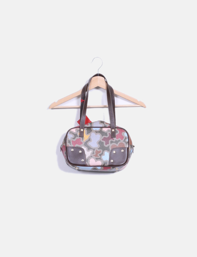 Bolso shoulder estampado multicolor