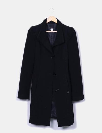 Manteau noir boucle long Miss Sixty