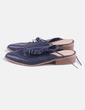Zapato de punta azul marino destalonado Asos