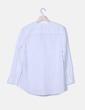 Camisa blanca con chorreras Uterqüe