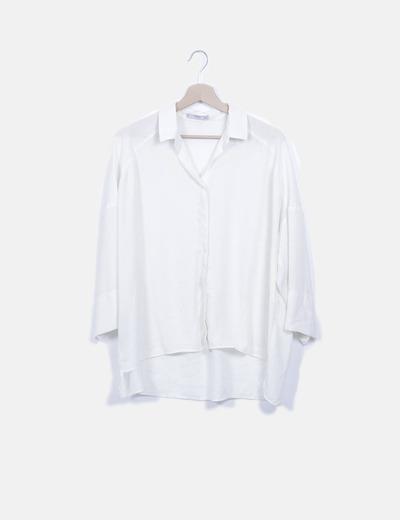 Blusa fluida blanco roto