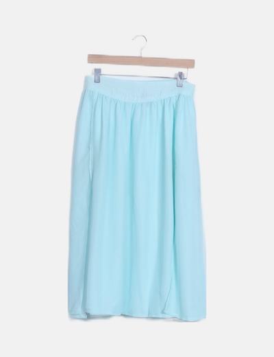 Falda maxi azul celeste
