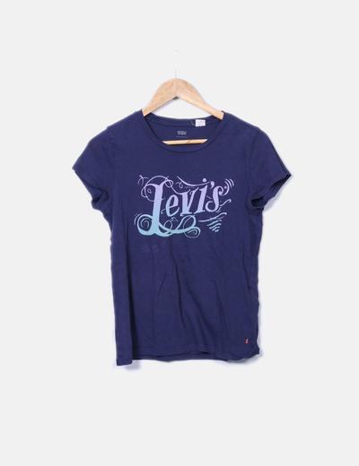 Camiseta con logotipo azul marino Levi's