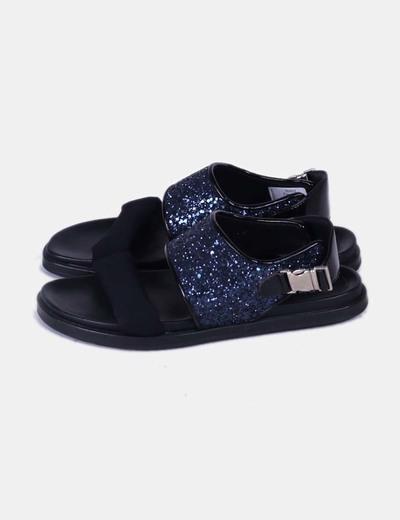 Sandalia de tiras glitter Carmens Pardova
