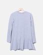 Vestido gris jaspeado Zara
