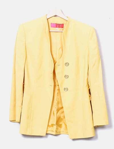 Blazer jaune avec boutons Ungaro