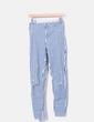 Striped denim jeans with rips Zara