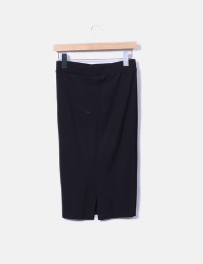 último estilo popular excepcional gama de colores Falda tubo negra