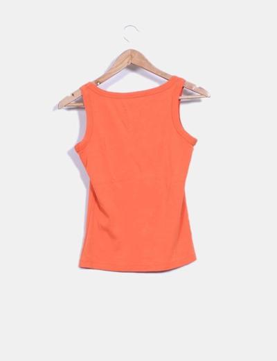Camiseta naranja basica