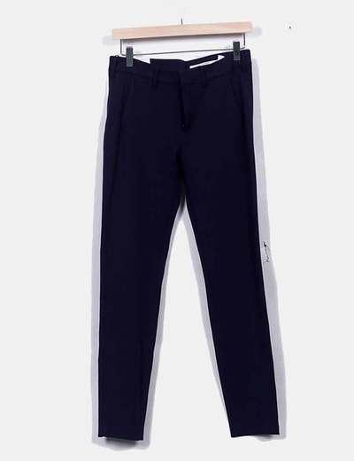 Pantalón azul marino slim fit