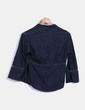 Camisa azul marino crochet Adolfo Dominguez