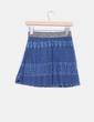 Falda azul crochet con cinturilla dorada NoName