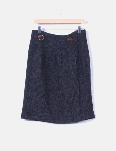 Jupe noire paillettes en tweed Hoss Intropia