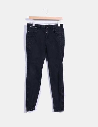 Pantalon pitillo negro Zara