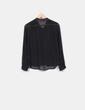 Blusa negra semi transparente con lentejuelas NoName
