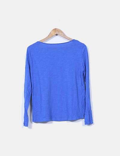 Camiseta azul klein basica
