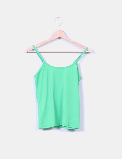Camiseta verde de tirantes NoName