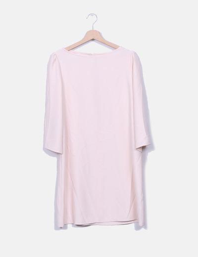 Vestido rosa pálido Mango