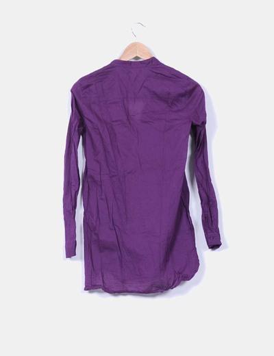 Blusa morada semi transparente