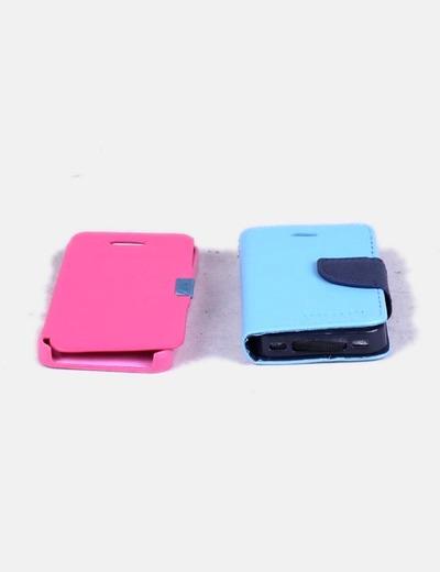 Conjunto de fundas rosa y azul Iphone 5s
