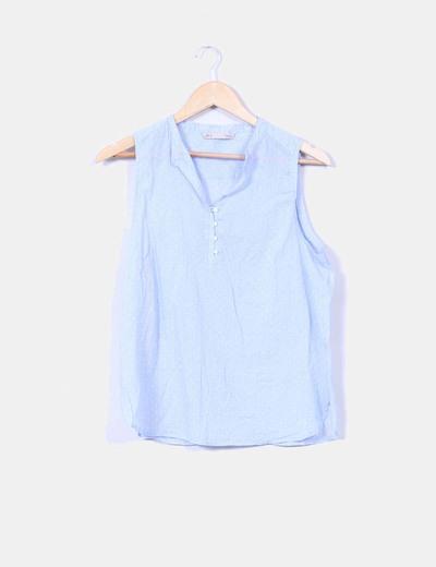 Blusa azul con topos Sfera