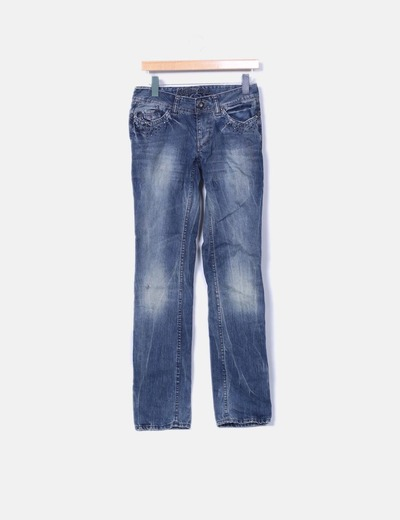 Jeans oscuro con strass Hilfiger Denim