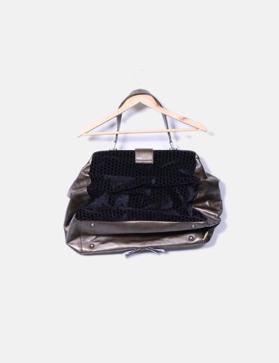504968cc1a9 Custo Barcelona Bolso verde combinado con terciopelo negro (descuento 77%)  - Micolet