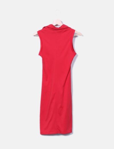 Vestido rojo manga sisa