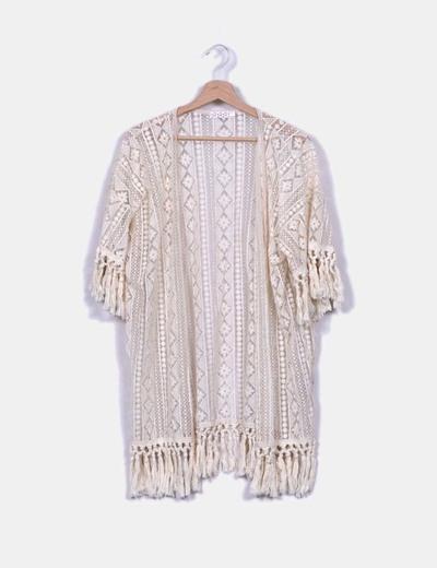 Kimono tul bordado Lily White