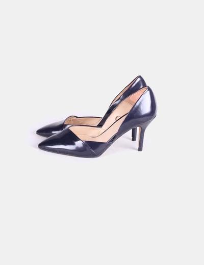 la mejor actitud 3f907 514e8 Zapato salón asimétrico azul marino