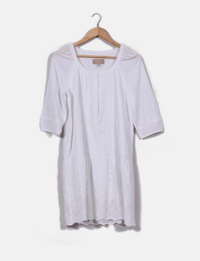 Robe blanche de style boho Pedro del Hierro
