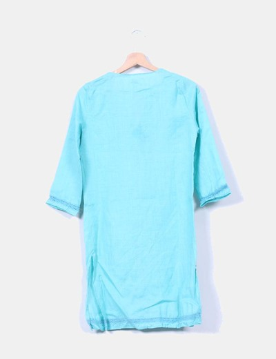 Kaftan azul turquesa