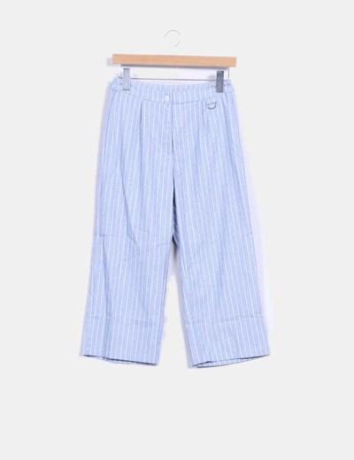 Pantalón culotte azul de rayas Lola May